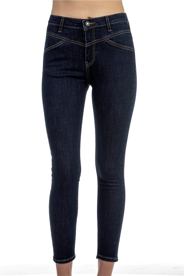 030396 MEDIUM WAIST SKINNY JEANS RAW