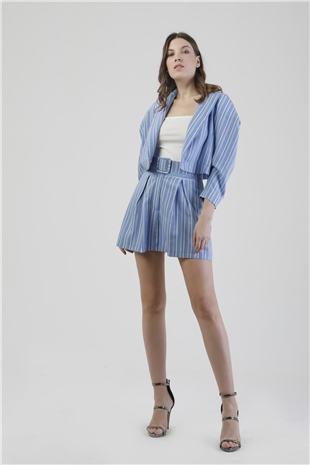 010065 STRIPED SHORT BLUE STRIPE