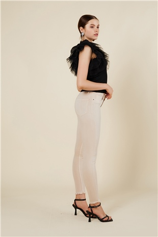 030094 SKINNY PANTS BIRCH