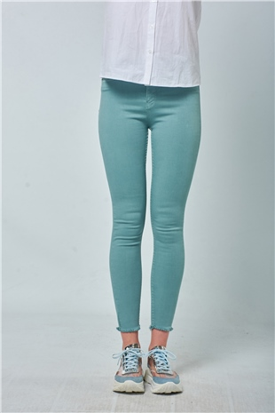 030094 SKINNY PANTS BLUE LEAD