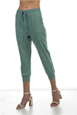 030384 NEUTRAL COTTON PANTS FIG LEAF