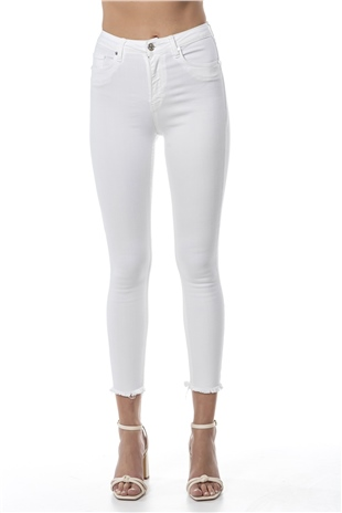 030397 CROPPED DENIM JEANS OPTIC WHITE