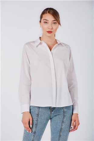 070264 COTTON SHIRT OPTIC WHITE