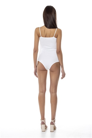 070437 RUCHED DISCONCEDTED BODYSUIT ECRU
