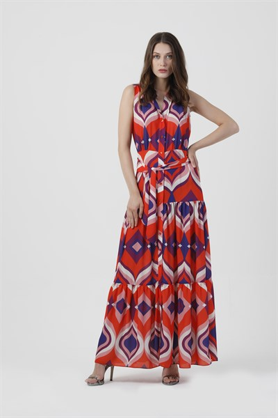 110066 DOMINICA PRINTED MAXI DRESS (SOUL)