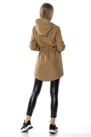 160207 HOODED TRENCHCOAT CAMEL