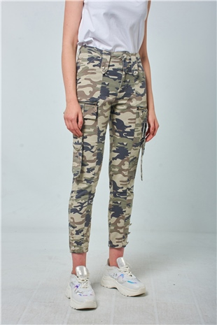 250017 CAMO COTTON PANTS (UTILITY) CAMO PRINT