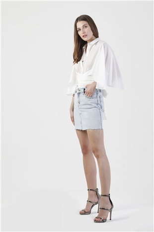 270005 MINI JEAN SKIRT (KEEP IT COOL) O.BLUE