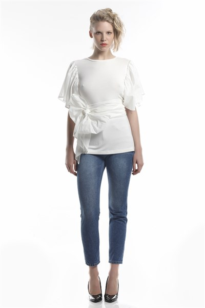 34514 ARMANICA RUFFLED COTTON TOP(ORTIZ)